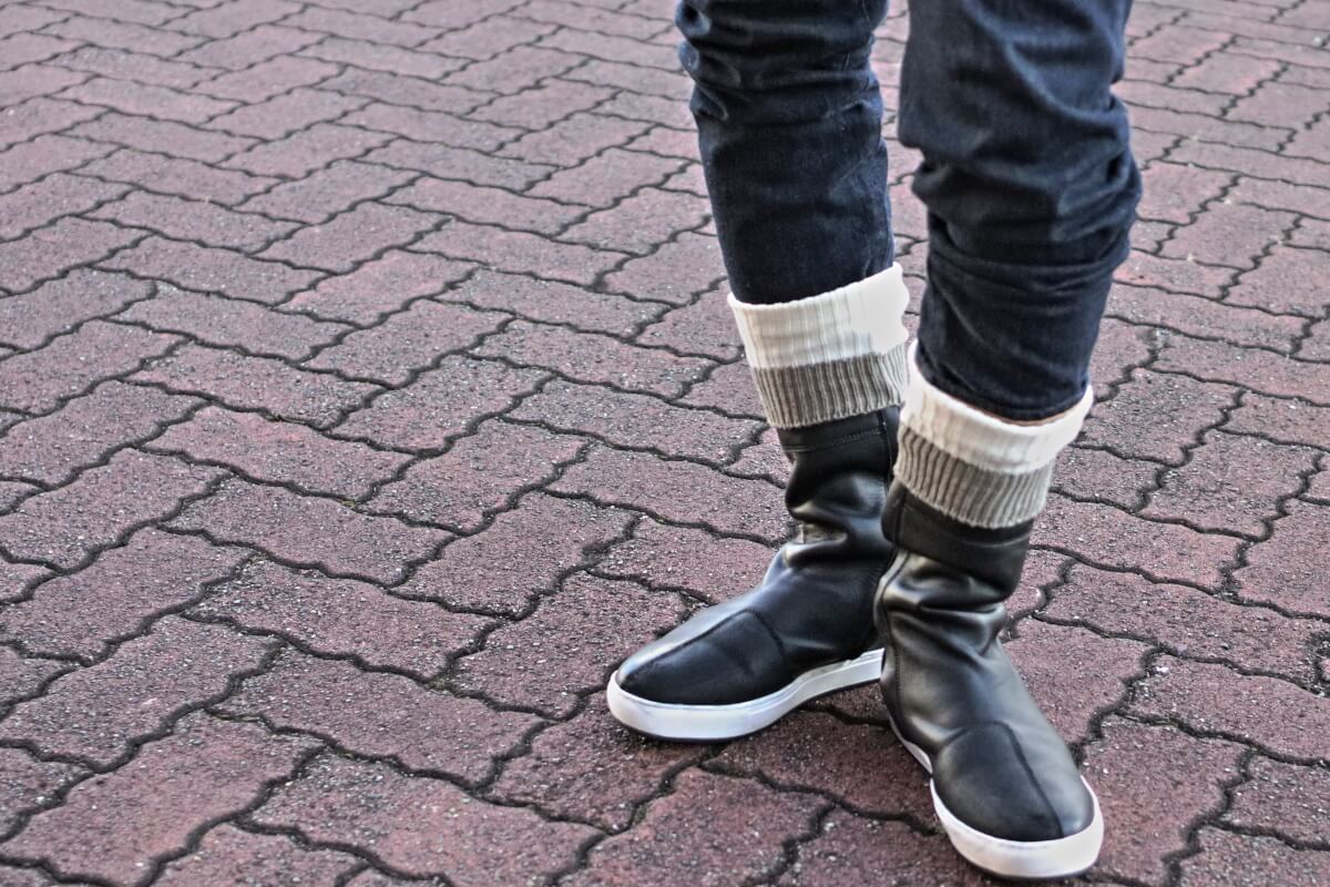 LEATHER HIGH SNEAKER&BOOTS SOCKS