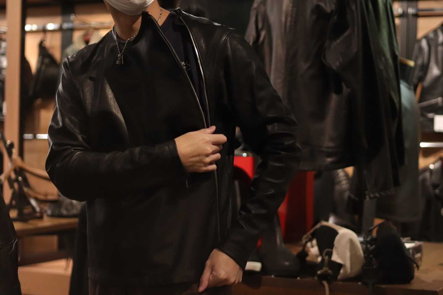 PULLOVER LEATHER③